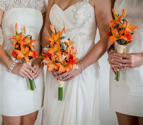 Destination Wedding Flowers 2019 Orange Tiger Lily bouquet