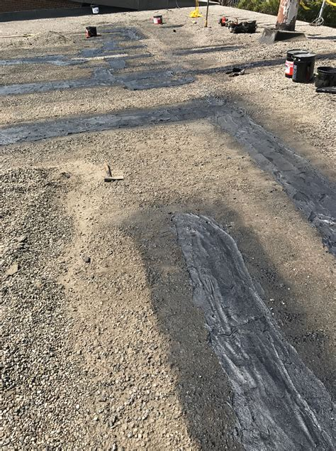 Tar Roof Repair Cold Tar Repairs To Tar And Gravel Roof In Etobicoke
