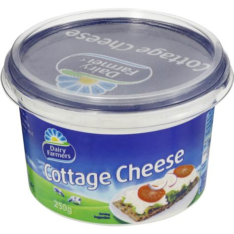 cottage cheese dairy farmers cottage cheese 250g woolworths