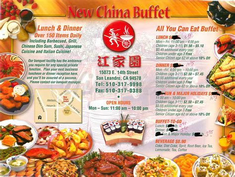 new china buffet menu san leandro dineries