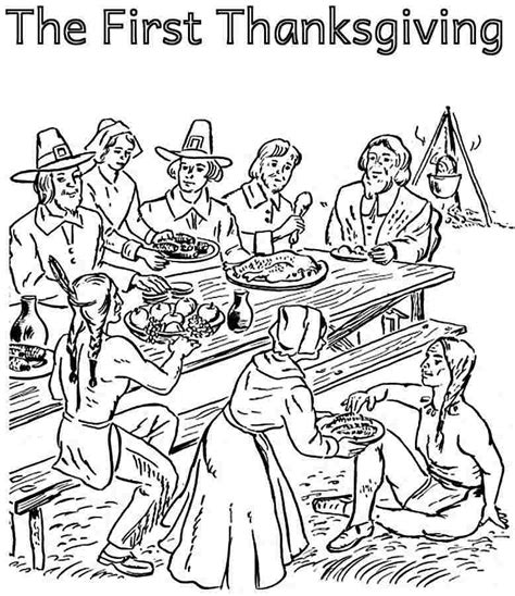 pilgrim indian coloring page pilgrim indian coloring pages az coloring pages