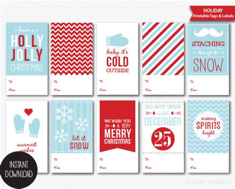 free printable gift tags pdf printable christmas gift tags diy packaging holiday labels