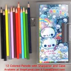 Pencil Sharpener Fancy Snake Baby kamio 12 color pencils with sharpener and awa awa chan