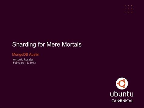 for mere mortals sharding for mere mortals