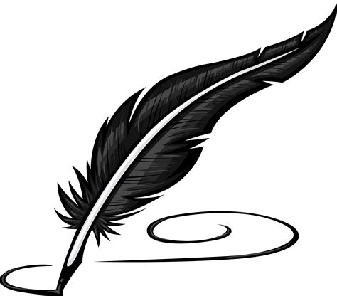 feather clipart fountain  pencil   color feather