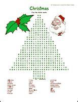 christmas tree word search printable christmas activities