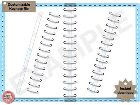 Digital Binder Rings Marble Pastel Digital Keynote File