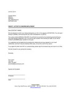 Employment Letter Template Canada Offer Of Employment Letter Template Canada