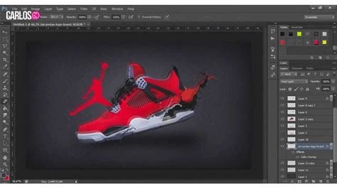 jordan templates for photoshop speed art 2 air jordan 4 quot toro bravo quot youtube