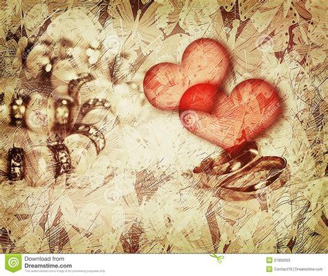 imagenes amor vintage fondo del amor del vintage con los anillos de bodas stock