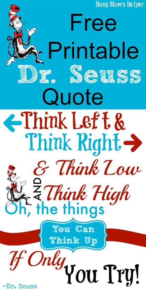 printable dr seuss reading quotes free printable dr seuss quote busy mom s helper