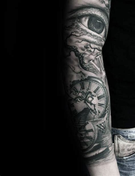 shaded sleeve tattoo designs 100 numeral tattoos for manly numerical ink ideas