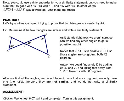 Proving Triangles Similar Worksheet by Proving Similar Triangles Worksheet
