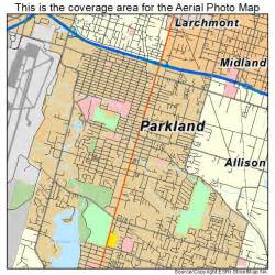 aerial photography map of parkland wa washington