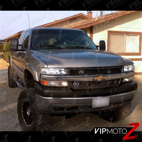 1999 2002 chevrolet silverado 1500 2500 hd chrome headlight bumper l set ebay