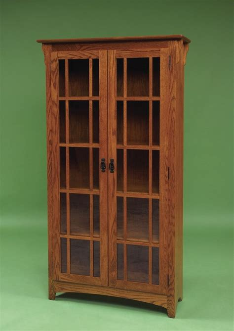amish mission door bookcase