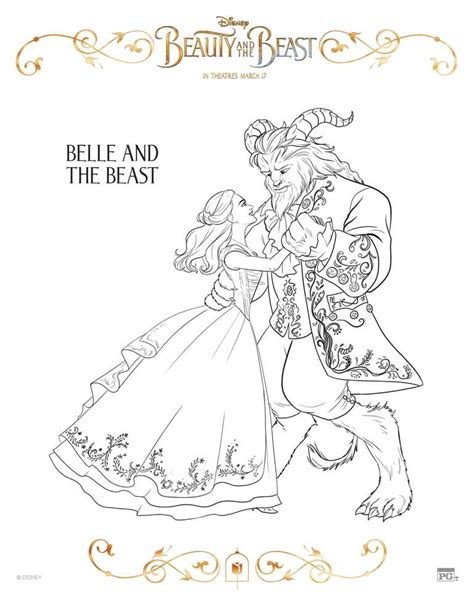 beauty and the beast dancing coloring pages free printable beauty and the beast coloring pages this