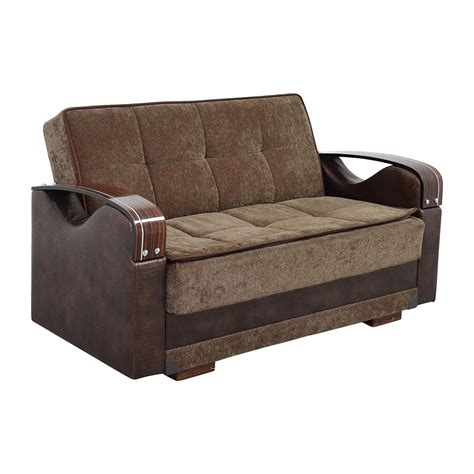 Futon Seat by 55 Na Brown Futon Seat With Wooden Armrest Sofas