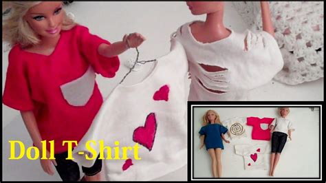 doll clothes how to make barbie doll t shirt youtube