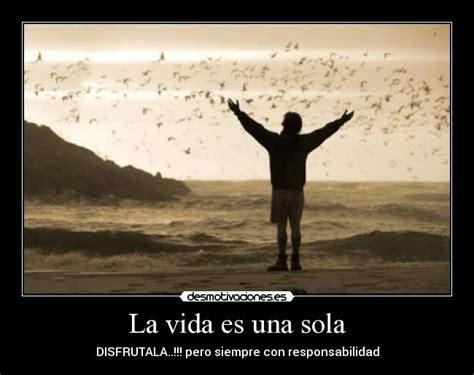 la vida es una 8416177724 la vida es una sola desmotivaciones