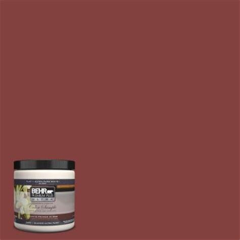 behr premium plus ultra 8 oz s h 170 brick interior exterior paint sle s h 170u the