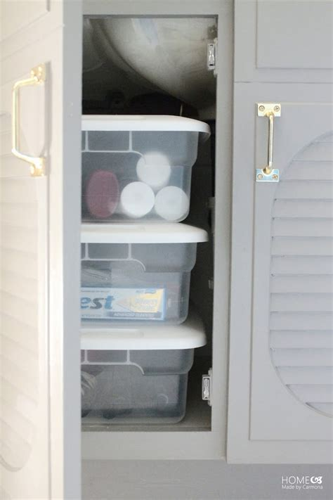 bathroom storage solutions cheap bathroom reveal home made by carmona