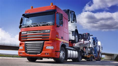 truck with transport truck with trucks hd wallpaper