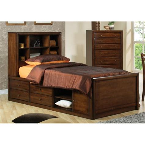 bed with shelves scottsdale full bookcase bed with underbed storage