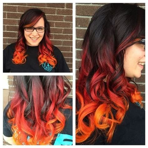 brunette and red hair pictures hombre flame hombre hair color ideas fire colored hair with