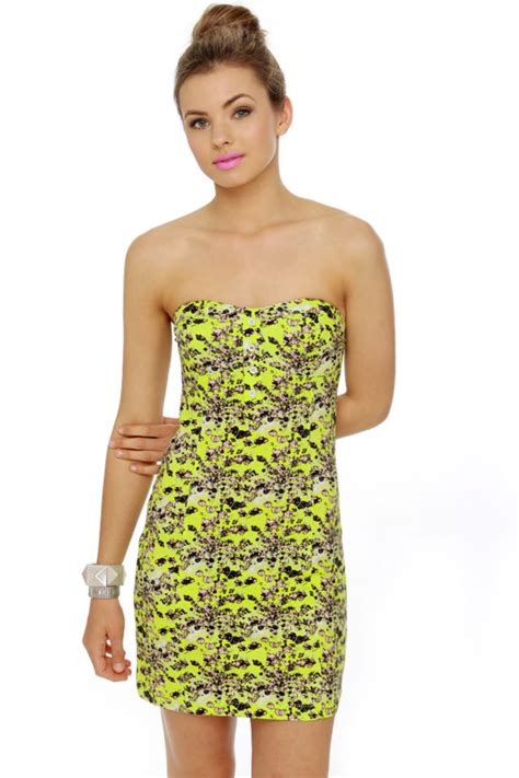 Dress Poppi Green volcom hey poppy dress lime green dress print dress 45 00
