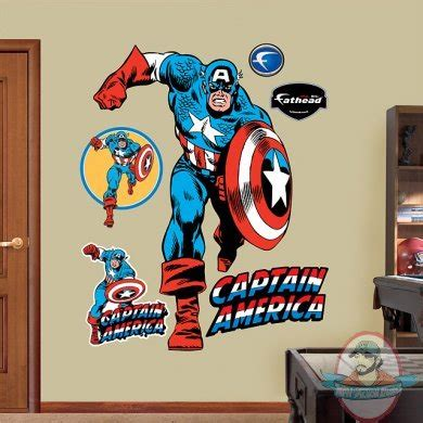 Nfl Fatheads Wall Stickers fathead fat head captain america full size man of action