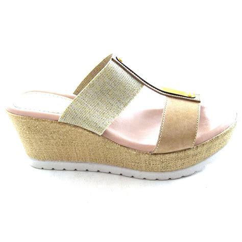 lola bruni lola wedge sandal womens footwear from
