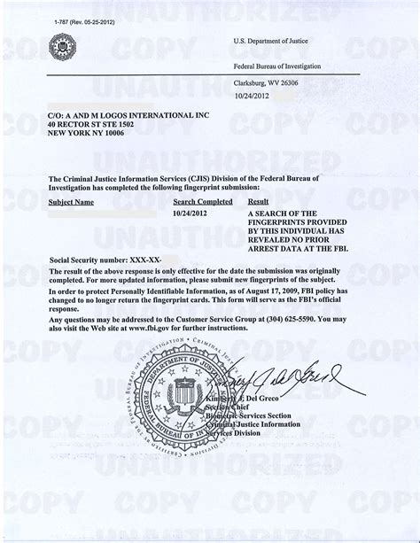 Fbi Certificate Of No Criminal Record Certified Fbi Criminal Background Check Chainimage