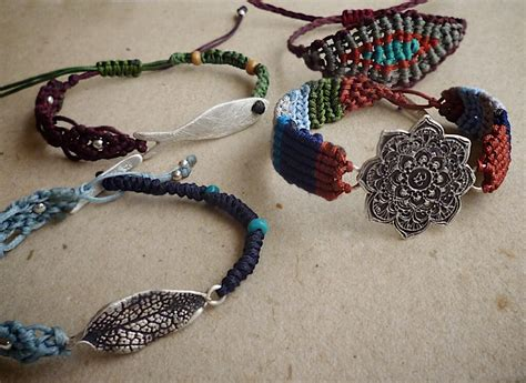 Macrame Articles - macrame silver and gemstones handmade jewelry