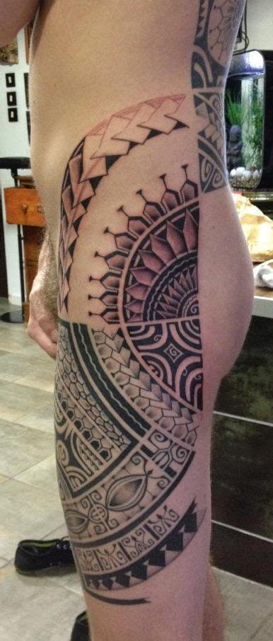 back of thigh tattoos best 25 polynesian leg ideas on maori