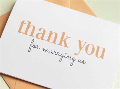thank you letter to pastor for wedding thank you card for your wedding minister or officiant on