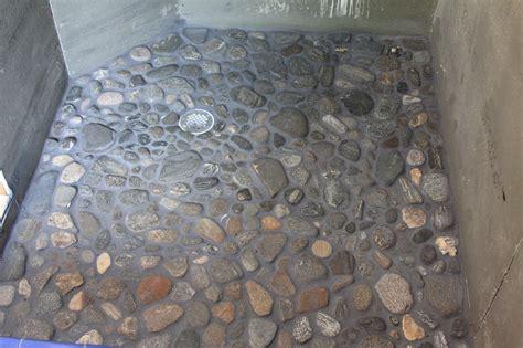 river rock shower floor bathroom pinterest rock shower river rock shower floor gently massages feet