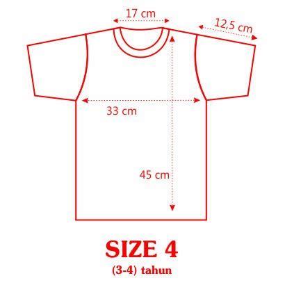 Kaos Anak Ukuran M 3 6 Tahun Ii standar ukuran kaos anak 2 12 tahun sandjava collections