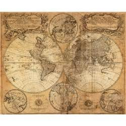 World Map Canvas Print by Vintage World Map Canvas Print