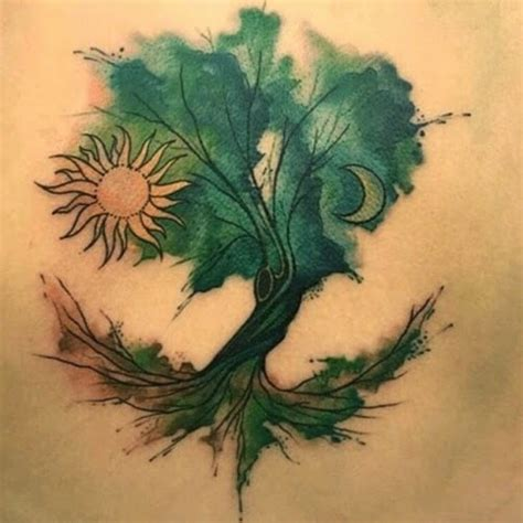 watercolor tree tattoo designs tree images designs