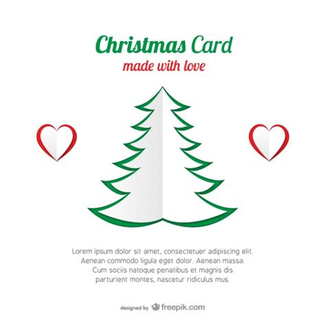 Tree Photo Card Templates card template with tree vector free
