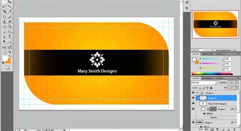 business card layout template photoshop ucreative a cool photoshop business card tutorial