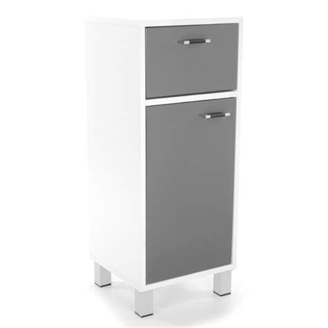 meuble bas 1 porte 1 tiroir xeno 1 blanc gris