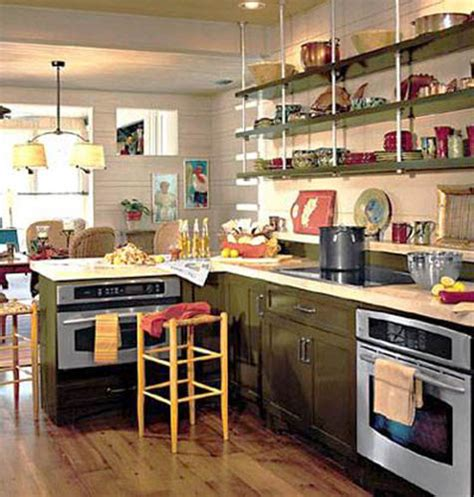 Open Kitchen Shelves Decorating Ideas retro modern kitchen decorating ideas open kitchen