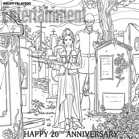 vire coloring pages online buffy the vire slayer celebrate the 20th anniversary
