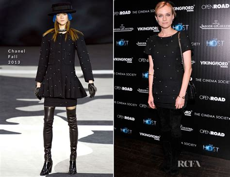 Catwalk To Carpet Diane Kruger In Chanel by Diane Kruger In Chanel The Host New York Screening