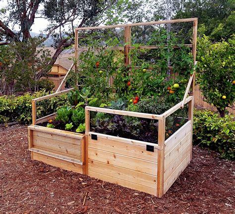 garden trellis raised gardening bed  trellis lid