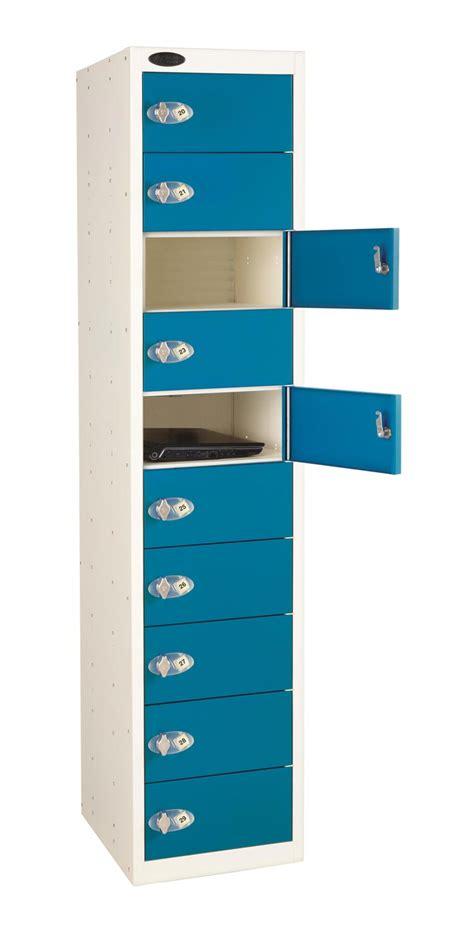 Locker Storage Shelf by Lockers 10 Door 10 Shelf Laptop Locker Non