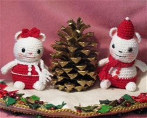 crochet pattern christmas mice holiday mice allfreecrochet com
