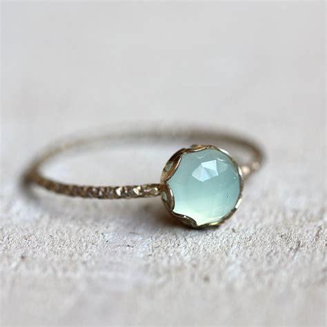 blue chalcedony gemstone ring